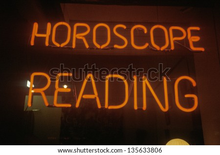 Neon Horoscope Reading sign in Los Angeles, CA  (Slightly grainy, best at smaller sizes)