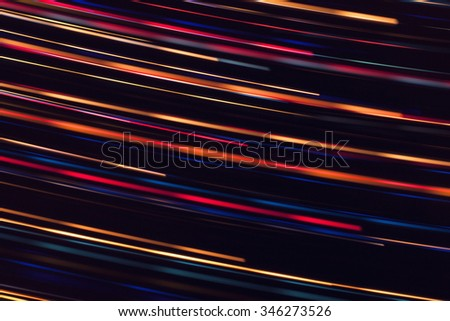 Neon lights texture with long exposure. - stock photo