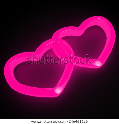 Neon Hearts Pictures Neon Pink Hearts on a Black