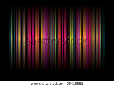 Neon rainbow abstract background with ribbons of color