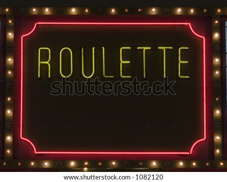 Neon Roulette Sign