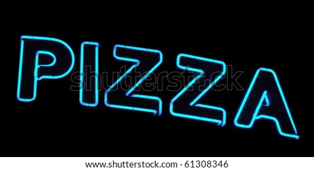Neon sign, Pizza