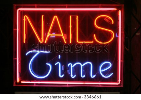"Neon Sign Series ""nails time"""