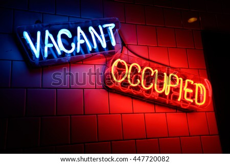 neon signs light wall stock photo royalty free 447720082