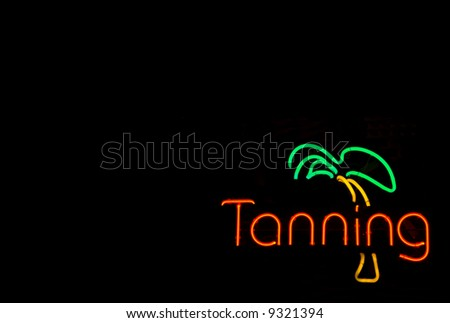 Neon Tanning Sign