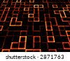 neon tile background - stock photo