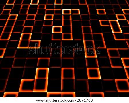neon tile background - stock photo