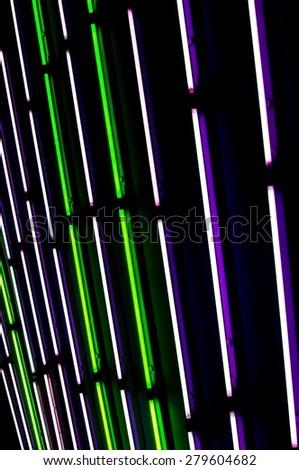 neon tubes - stock photo