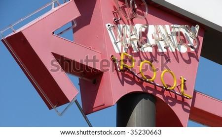 neon Vacancy sign - stock photo