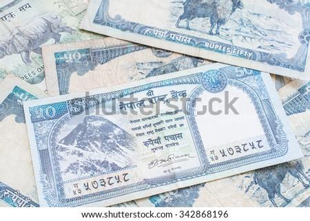 Nepal banknote - stock photo