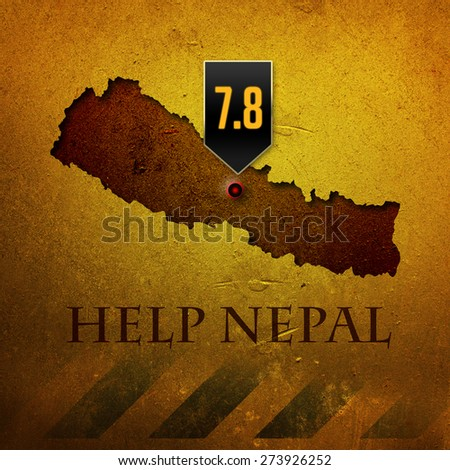 Nepal earthquake - Help Nepal - stock photo