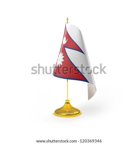 Nepal Flag Detail Render - stock photo