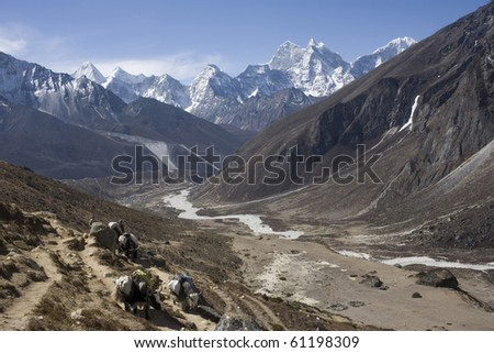 Nepalese landscape - stock photo