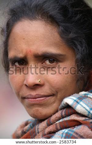 Nepali Woman - stock photo