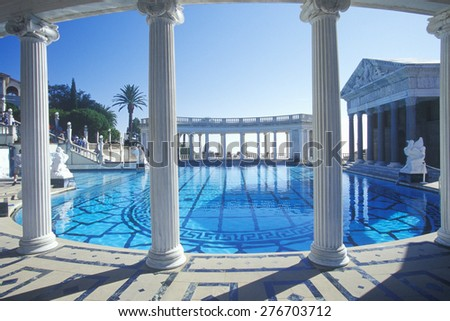 Neptune Pool at Hearst Castle, San Simeon, Central Coast, California - stock photo