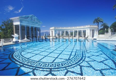 Neptune Pool at Hearst Castle, San Simeon, Central Coast, California - stock photo