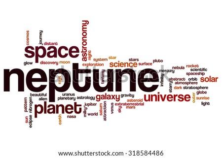 Neptune word cloud - stock photo