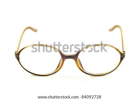 nerd glasses, isolated - stock photo