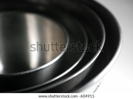 Nested Mixing Bowls 1 - stock photo