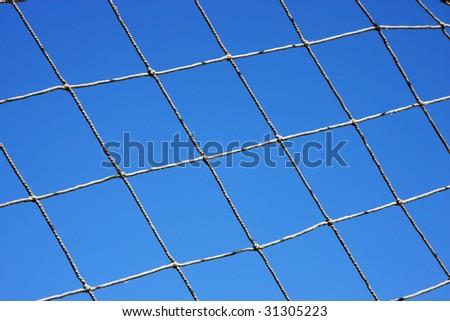 Net against sky - stock photo