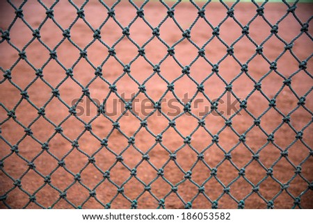 net and the baseball field