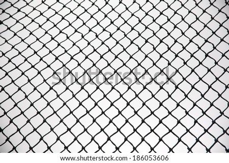 net and the baseball field - stock photo