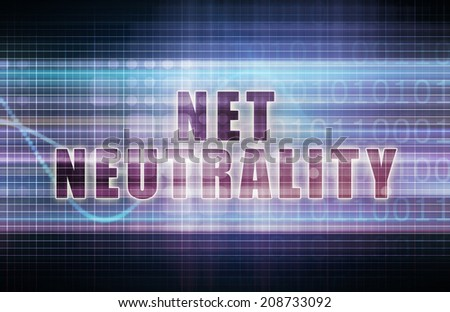 Net Neutrality on a Tech Business Chart Art - stock photo