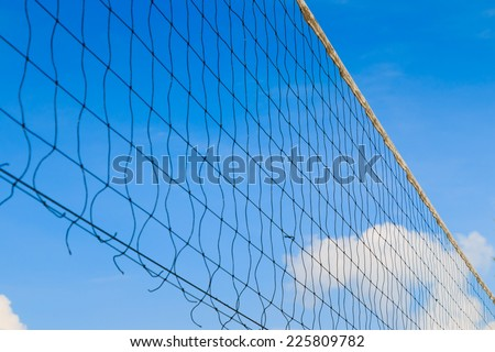 Net on blue sky background