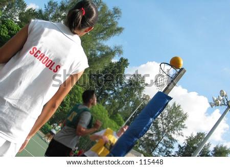 Netball Umpire - stock photo