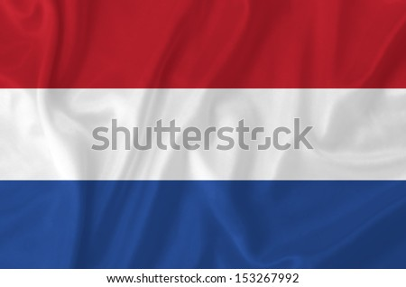 Netherland waving flag - stock photo