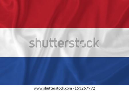 Netherland waving flag - stock photo