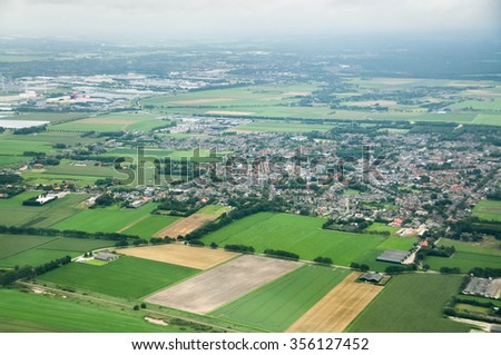 Netherlands, Aerial view - stock photo