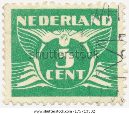 NETHERLANDS - CIRCA 1941: A stamp printed in Netherlands shows the Postage Stamp par 5 cents), circa 1941
