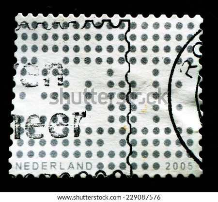 NETHERLANDS - CIRCA 2005: 39 cent Netherlands post stamp shows numerous, series, circa 2008 - stock photo