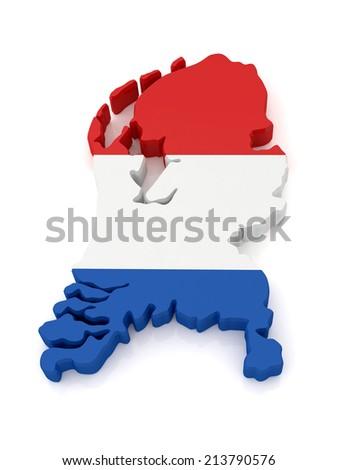 Netherlands Map - stock photo