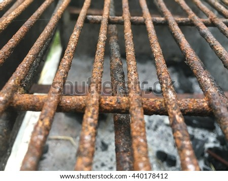 nets for building reinforced concrete cages - stock photo