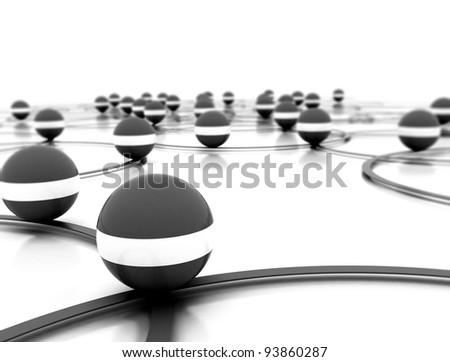 Network abstract illustration - stock photo