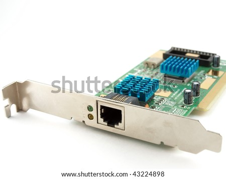 Network adapter with cooling over white