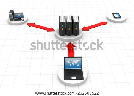 Network and internet communication concept	 - stock photo