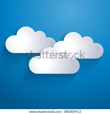 Network clouds for infographic elements on the blue background