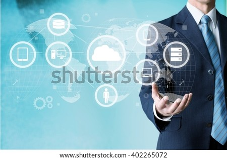 Network Collages. - stock photo
