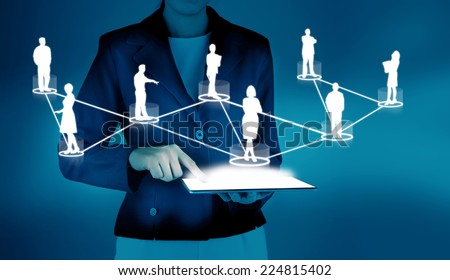 Network concept - stock photo