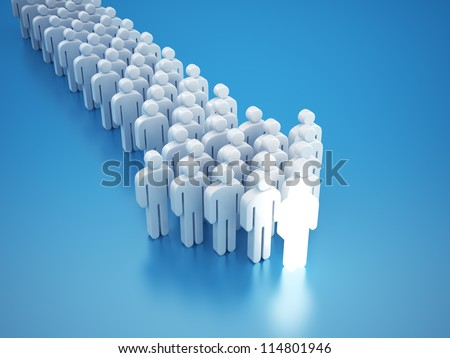 Network concept arrow 3d - stock photo