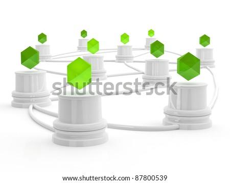 Network concept. 3d illustration - stock photo