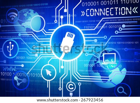 Network Connection - stock photo