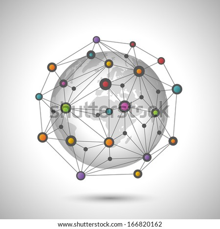 Network earth - stock photo