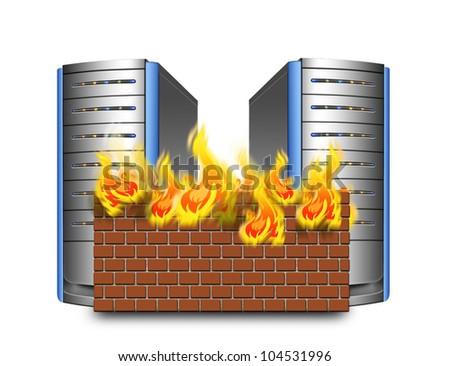 network firewall - stock photo