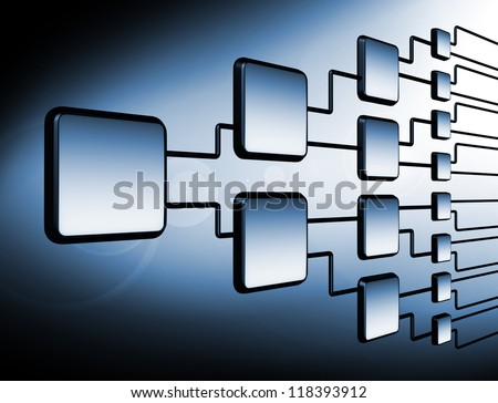 network flowchart graph management - stock photo