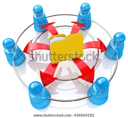 Network Folder in the design of information related to internet. 3d illustration - stock photo