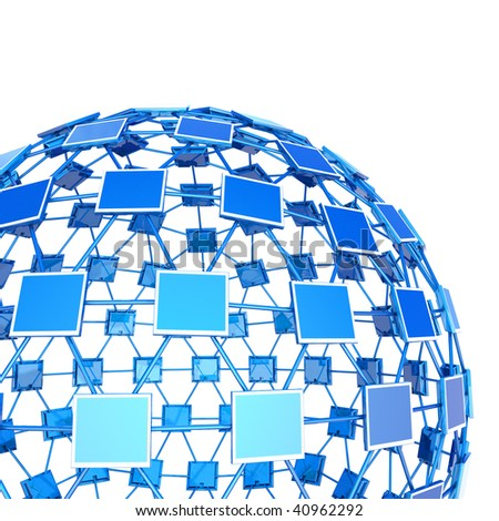 Network. Hi-res digitally generated image. - stock photo